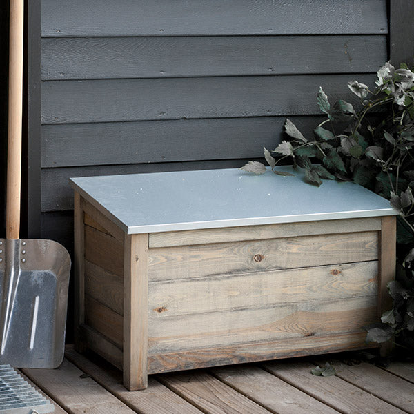 Zinc Top Aldsworth Outdoor Storage Box