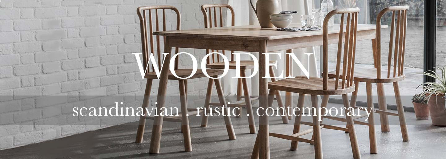 Scandinavian and contemporary oak dining chairs