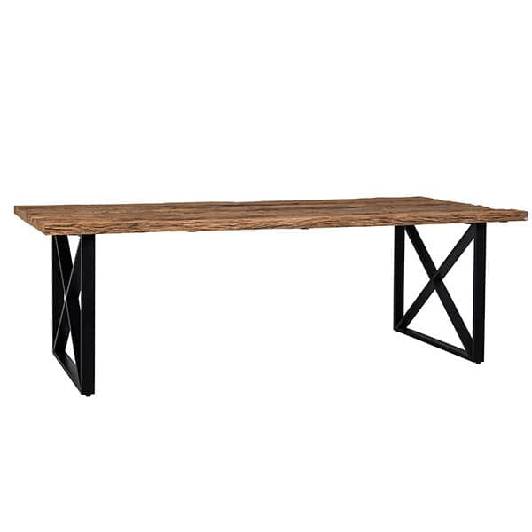 Luxe Kensington Industrial Reclaimed Wood Dining Table cutout