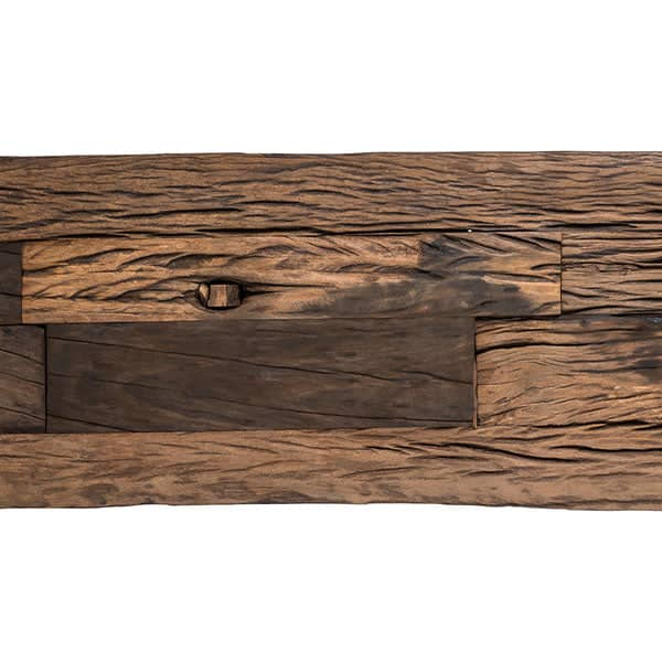 Luxe Kensington Reclaimed Wood Industrial TV Unit top - Modish Living