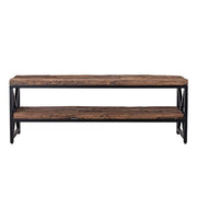 Luxe Kensington Reclaimed Wood Industrial TV Unit front - Modish Living