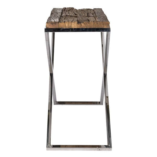 Luxe Kensington Reclaimed Wood Console Table Side