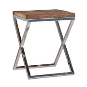 Luxe Kensington Reclaimed Wood Square Side Table
