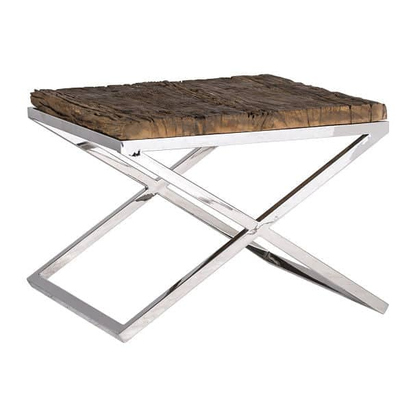 Luxe Kensington Reclaimed Wood Side Table
