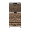 Luxe Kensington Reclaimed Wood 5 Drawer Chest of Drawers Front view