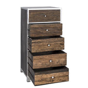 Luxe Kensington Reclaimed Wood 5 Drawer Chest of Open Drawers