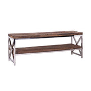 Luxe Kensington Reclaimed Wood TV Unit side view - Modish Living