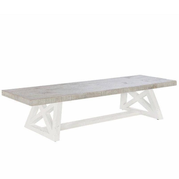 Abingdon Reclaimed Wood Bench painted white