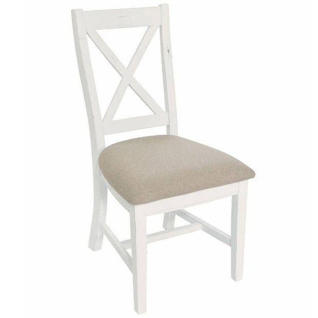 Abingdon Reclaimed Wood Dining Chair (pair) painted white