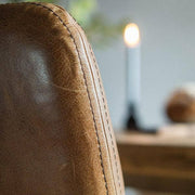 Leather Dining Chair Stitching Detail