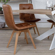 Allegro Leather Dining Chairs and Oak Dining Table