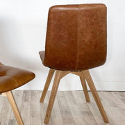 Back of Allegro Brown Leather Dining Chair