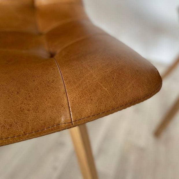 seat of Allegro Brown Leather Dining Chair
