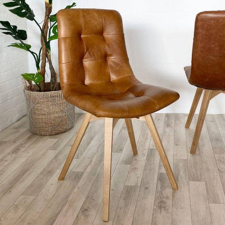 Allegro Brown Leather Dining Chair