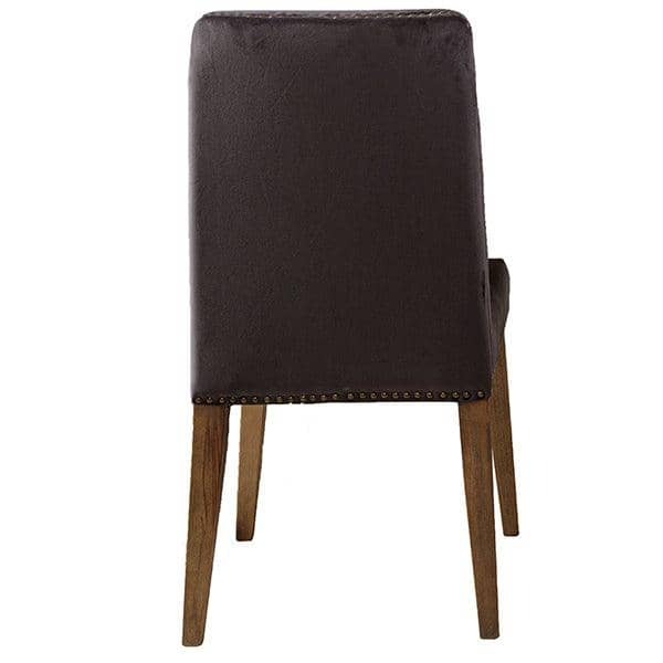 Back of Ambrose Velvet Dining Chair