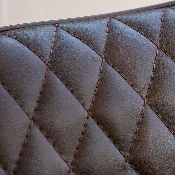 Archie Faux Leather Dining Chair Close up