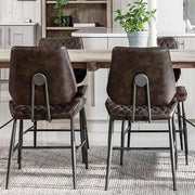 Archie Faux Leather Dining Chairs Back