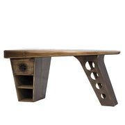 Aviator Jet Brass Half Wing Desk Side