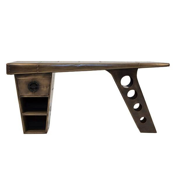 Aviator Vintage Jet Brass Half Wing Desk