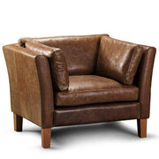 Barkby Brown Leather Armchair