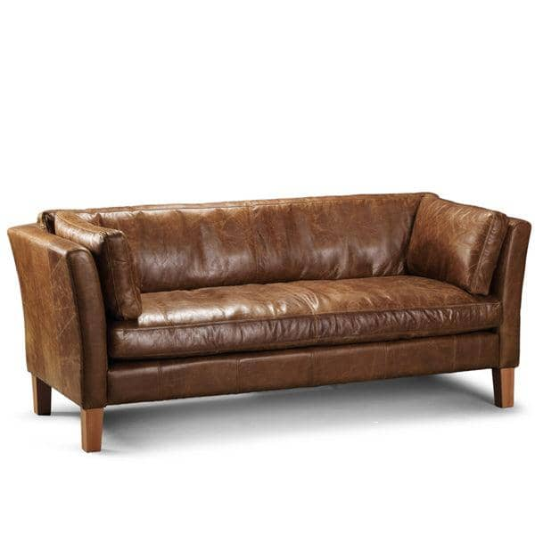 Leather Living Room Furniture Brown Leather Sofa