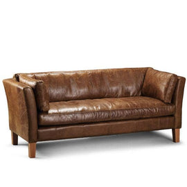 Barkby Leather Sofa Modish Living