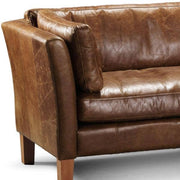 Barkby Leather Armchair Close up Modish Living