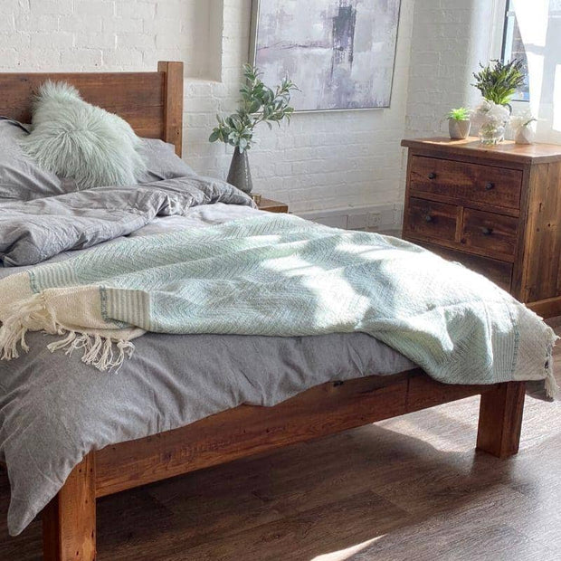 handcrafted in the UK, reclaimed wood bedroom furniture