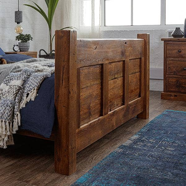 Reclaimed Wood Footboard with panels