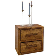 Beam 2 Drawer Reclaimed Wood Bedside Table Cutout