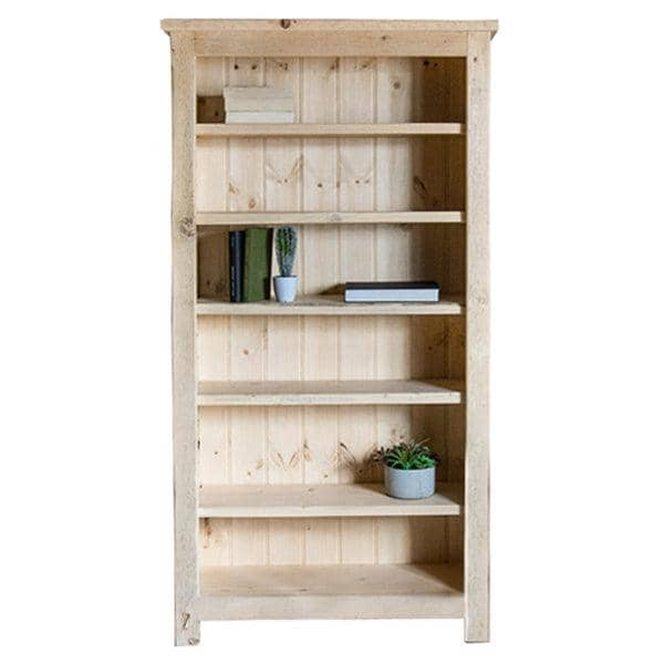 Beam Reclaimed Wood Bookcase Natural Cutout
