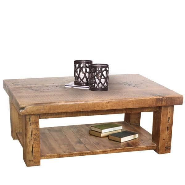 Beam Reclaimed Wood Coffee Table Medium Cutout