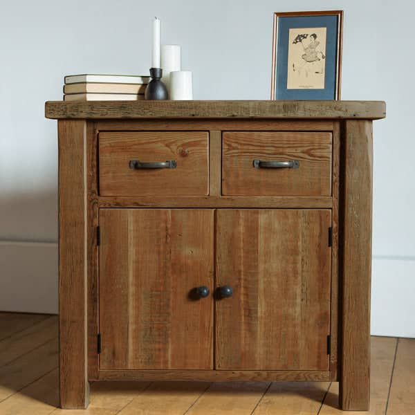 Beam 2 Door Reclaimed Wood Sideboard Medium