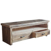 Beam Reclaimed Wood TV Unit with Drawers Open Cutout