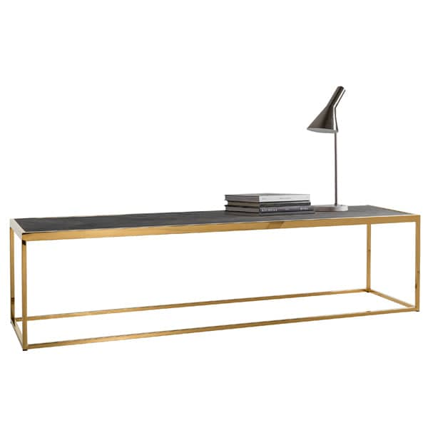 Blackbone Industrial Oak Coffee Table Gold Cutout