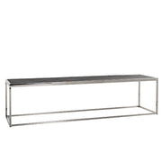 Blackbone Industrial Oak Coffee Table Stainless Steel Cutout