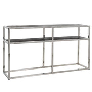 Blackbone Industrial Oak Console Table Stainless Steel