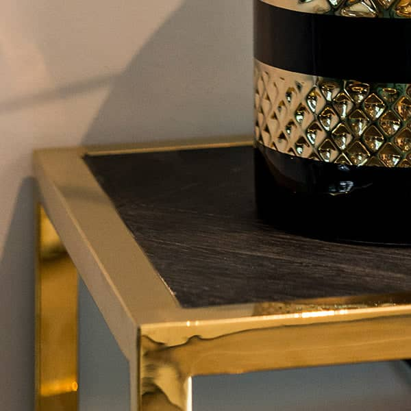 Blackbone Industrial Oak Console Table Close up
