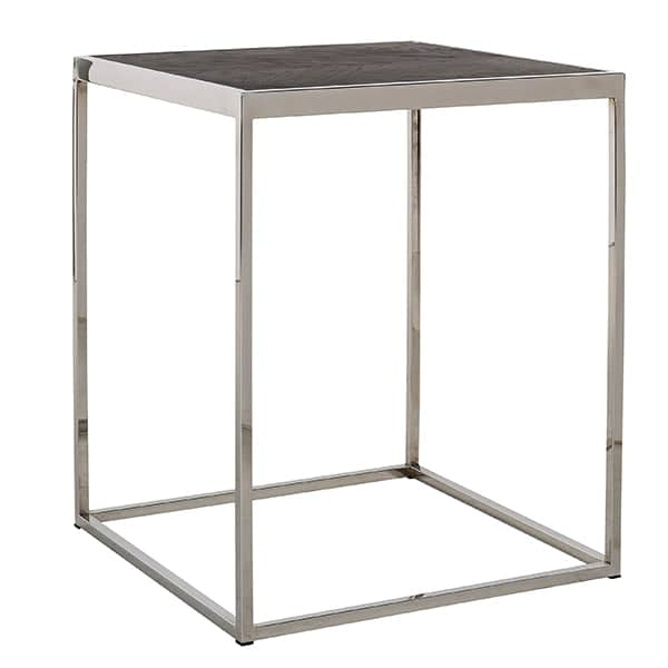 Blackbone Industrial Oak Side Table Stainless Steel