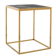 Blackbone Industrial Oak Side Table Gold Cutout
