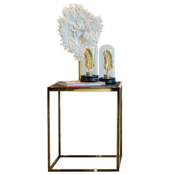 Blackbone Industrial Oak Side Table Gold