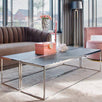 Blackbone Industrial Oak Coffee Table Stainless Steel in Room