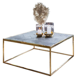 Blackbone Industrial Oak Square Coffee Table