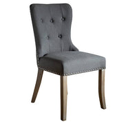 Brook Grey Upholstered Dining Chairs Side