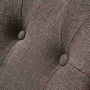 Brook Grey Upholstered Dining Chair Upholstery Close Up