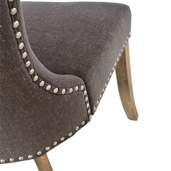 Brook Grey Upholstered Dining Chair Back