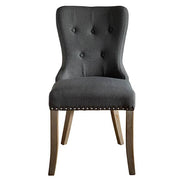 Brook Grey Upholstered Dining Chairs Front
