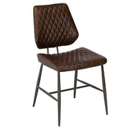 Archie PU Leather Dining Chair Brown