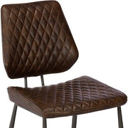 Archie Brown PU Leather Dining Chair