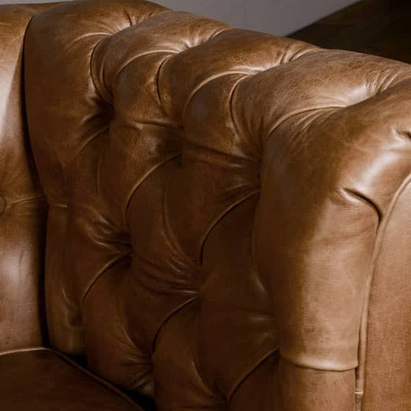 Caesar Chesterfield Sofa Brown Cerato